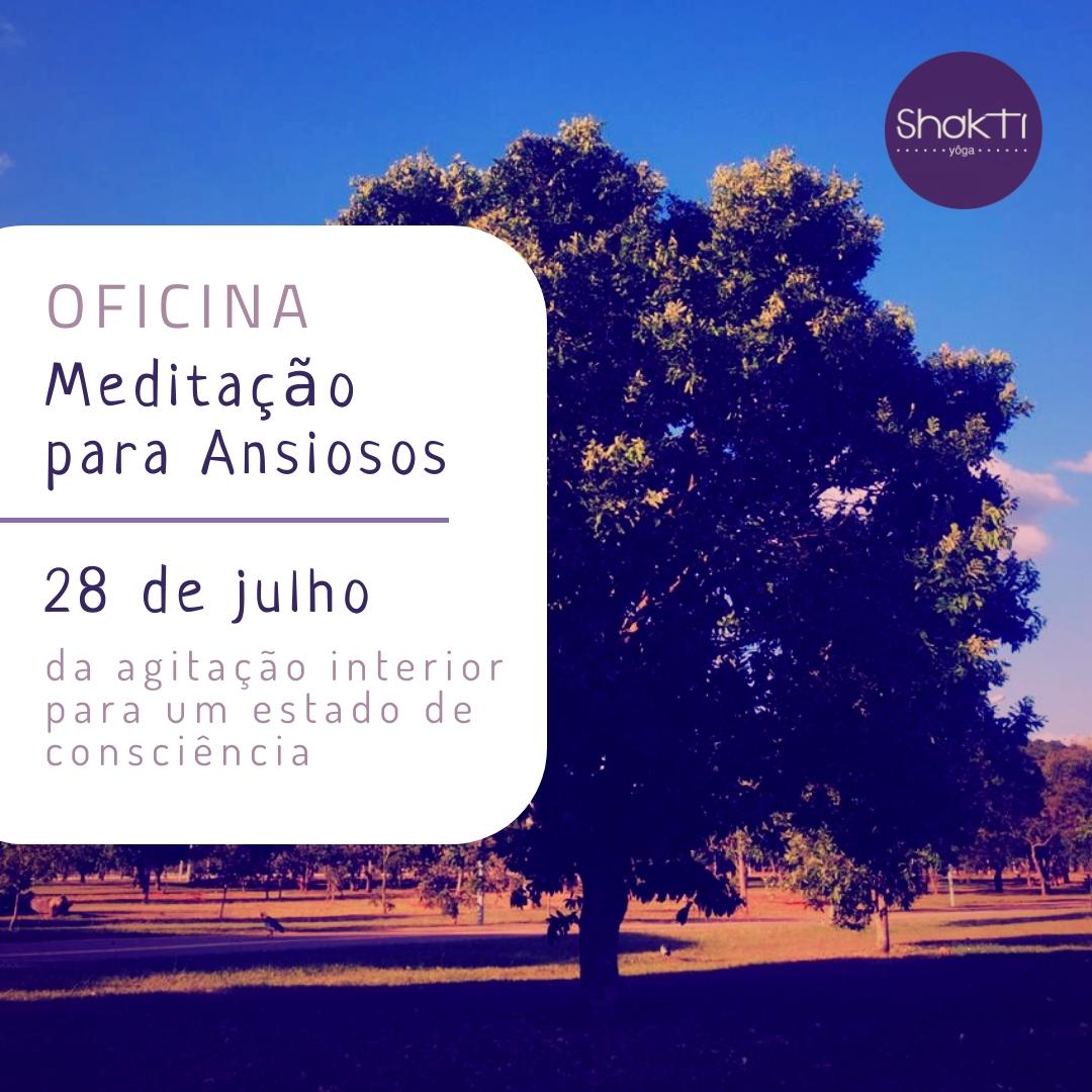 Oficina Shakti Yoga Brasilia Meditação Para Ansiosos